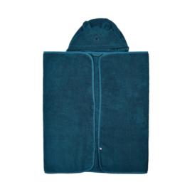Pippi Babywear - Badhanddoek met capuchon - donkerblauw