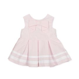Tutto Piccolo - Roze gestreept jurkje