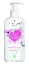 Attitude Baby Leaves - 2-in-1 shampoo & body wash - geurvrij