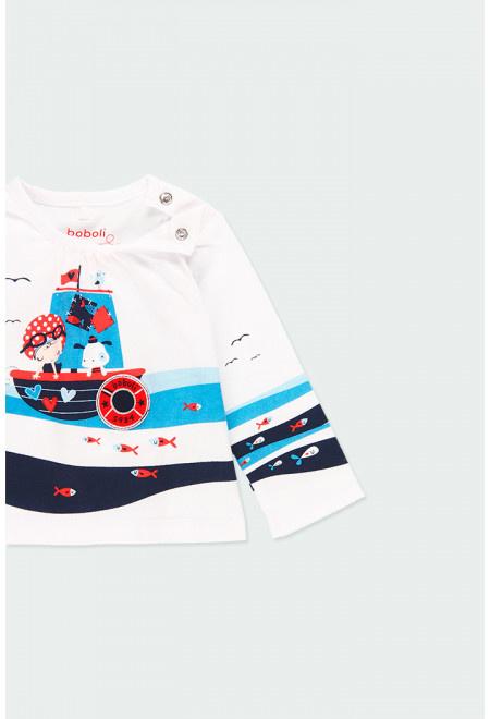 Boboli - T-shirt 'At Sea' voor baby meisjes
