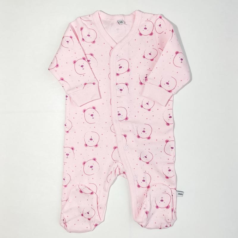 Pippi Babywear - Setje van 2 slaaprompers met voetjes - olifantjes & beertjes