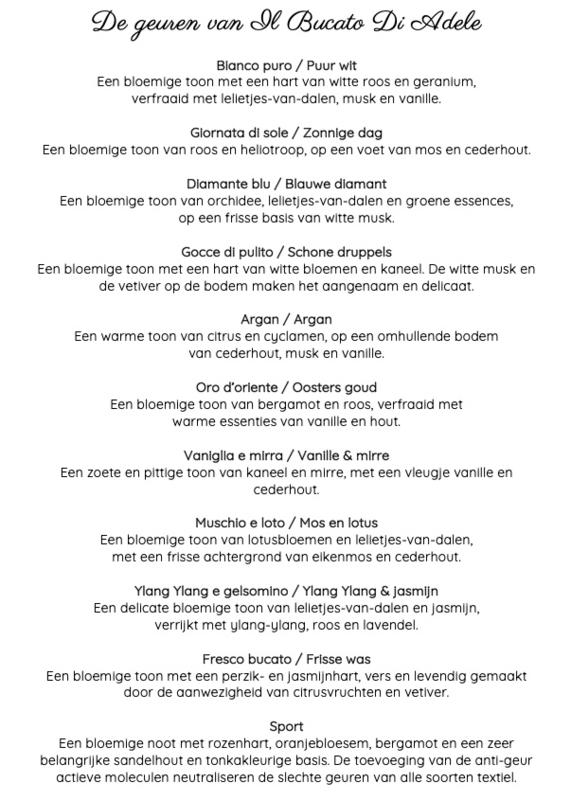 Il Bucato Di Adele - Wasparfum proefpakket 10 geuren