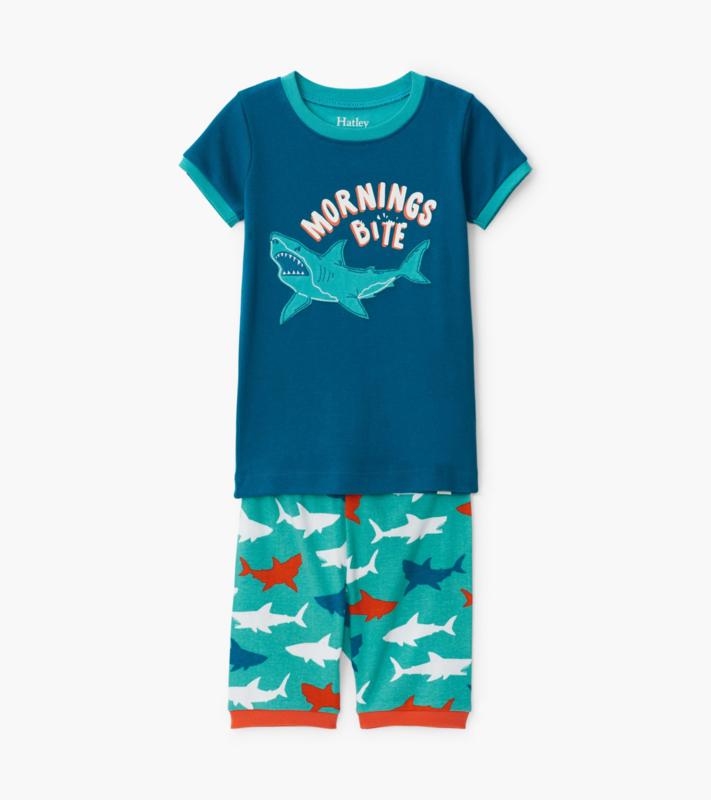 Hatley - Pyjama set voor jongens - Great White Sharks