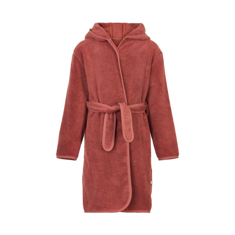 Pippi Babywear - Badjas met capuchon - marsala rood