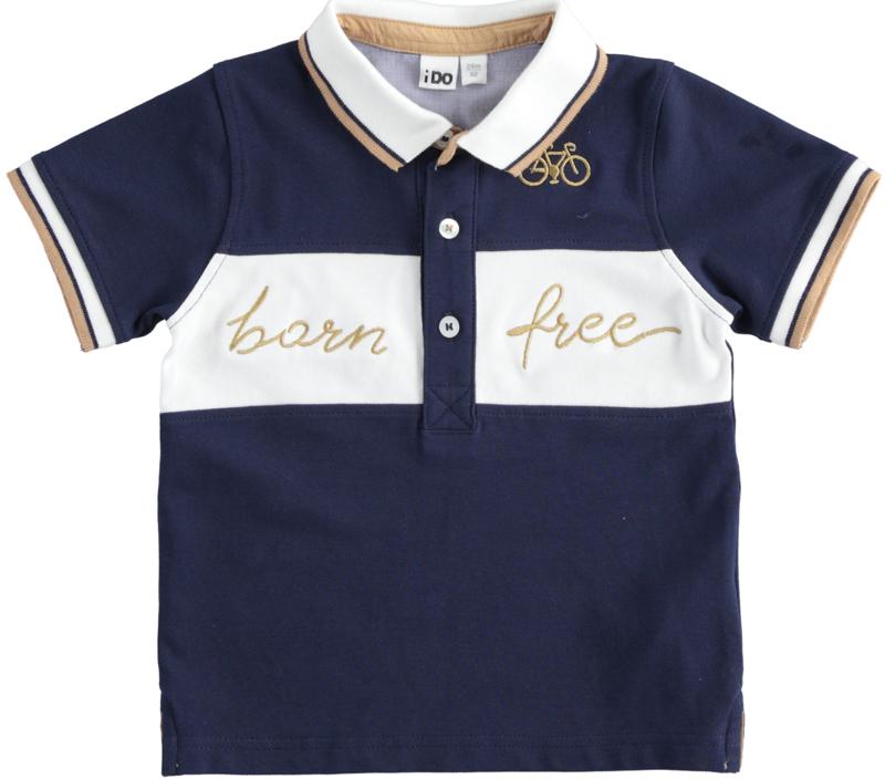 ido - Donkerblauw polo shirtje