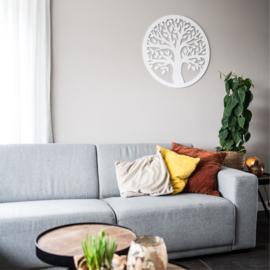 Tree decoratie wit rond