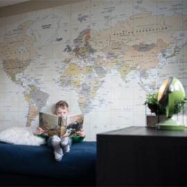 Print wereldkaart