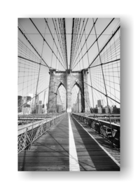 Blooklyn Bridge op 3mm plaat in diverse afm