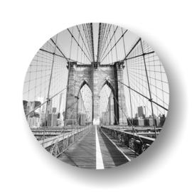 Blooklyn bridge -rond op 3mm  plaat diverse afm