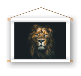 Leeuw op doek