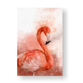 Flamingo op 3mm plaat in diverse afm