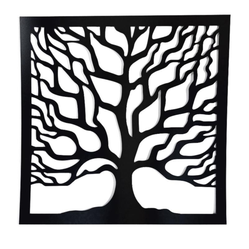 Tree decoratie zwart vierkant