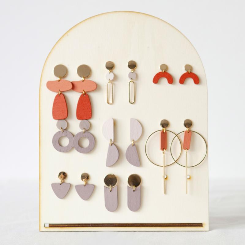 wooden display multiple