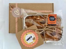 Pecan Karamel Boterkoek Luxe verpakking + wenskaart + verzendkosten