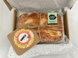 Boterplaatkoek met appel Luxe verpakking + wenskaart + verzendkosten
