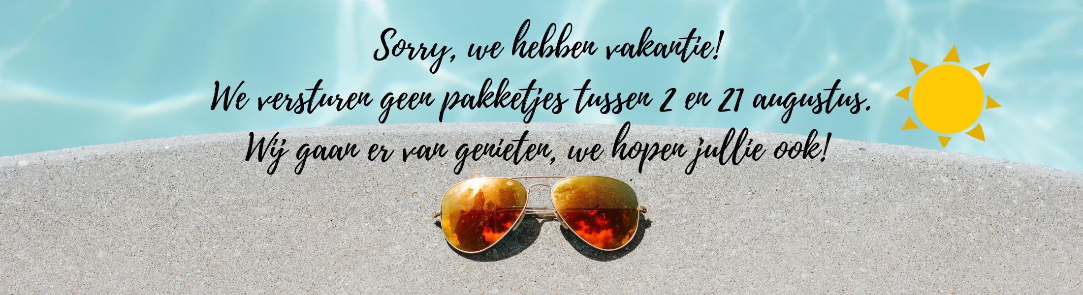Sorry we hebben vakantie