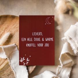 Warme knuffel, kaart