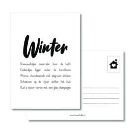 A6 kaart | Winter