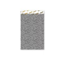 Cadeauzakje | 12x19 cm | Dots zwart wit