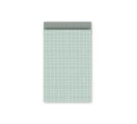 Cadeauzakje | 12x19 cm | Grid mint groen