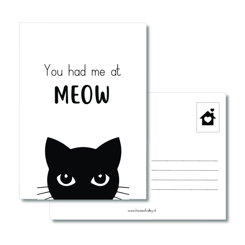 A6 kaart | You had me at MEOW
