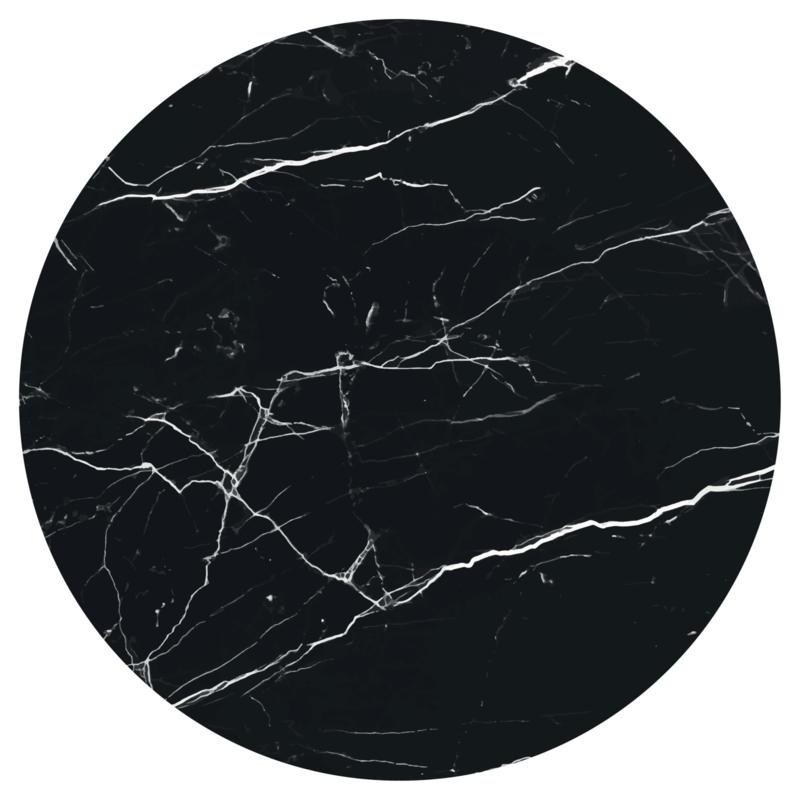 Muurcirkel House of Valley - Marmer zwart