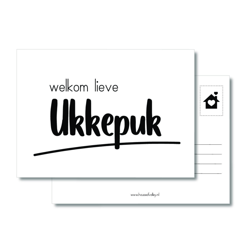 A6 kaart | Welkom lieve Ukkepuk