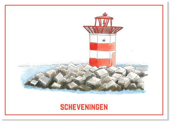 Het havenhoofd van Scheveningen   A4 Poster   Per 3 stuks