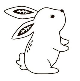 muursticker konijn 1