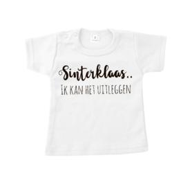 T-shirt sinterklaas ik kan het uitleggen wit