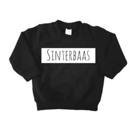 Sweater sinterbaas zwart