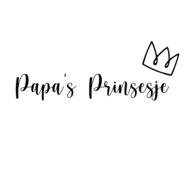Strijkapplicatie papa's prinsesje
