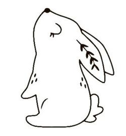 Muursticker konijn 2
