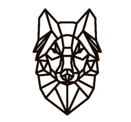 muursticker Wolf