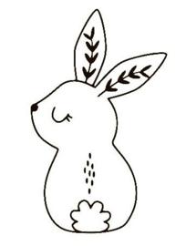 Muursticker konijn 3