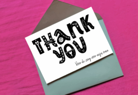 GRATIS kaartje om iemand te bedanken - eigen tekst