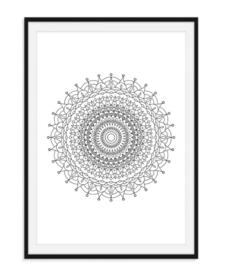 Mandala poster - Bloem versie 5
