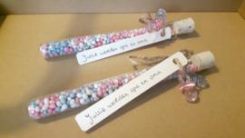 Geboorte Muisjes® van De Ruijter mix blauw / roze - Aankondiging zwangerschap