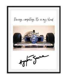 Ayrton Senna - Quote Poster