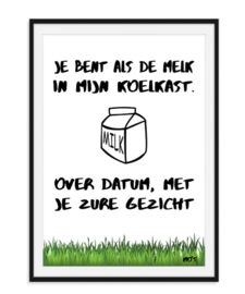 Je bent als de melk - Poster