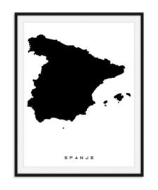 Spanje - Favoriete landen op poster