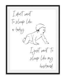 I don't want to sleep like - poster