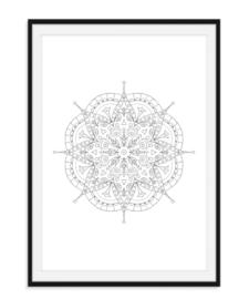 Mandala poster - Bloem versie 8