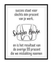 Soichiro Honda - Quote Poster