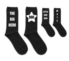 Vader en zoon sokken set - Hero Sidekick