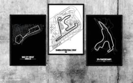Circuit naar keuze poster - Minimalistische stijl