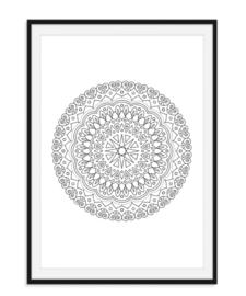 Mandala poster - Bloem versie 9