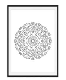 Mandala poster - Bloem versie 2