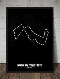 Marina Bay Street Circuit Poster - Minimalistisch