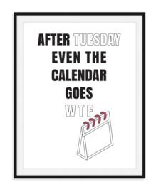 Kalender WTF poster
